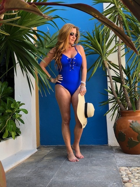 Feel Confident in Your Swimsuit This Summer - AMORESSA PLUNGE LACE UP HALTER ONE PIECE SWIMSUIT