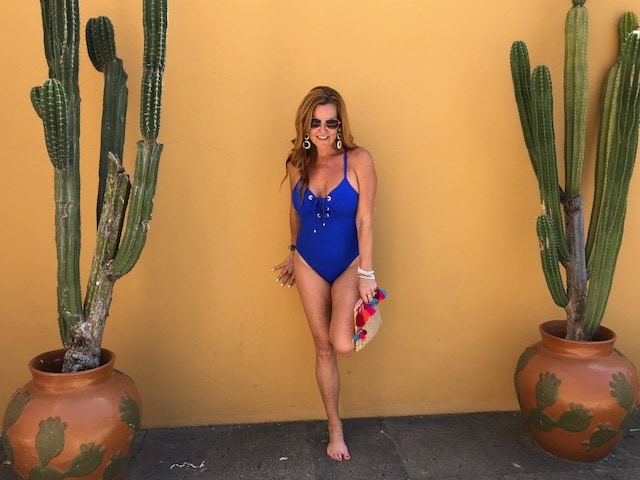 4eb7e768f99 Feel Confident in Your Swimsuit This Summer - AMORESSA PLUNGE LACE UP  HALTER ONE PIECE SWIMSUIT