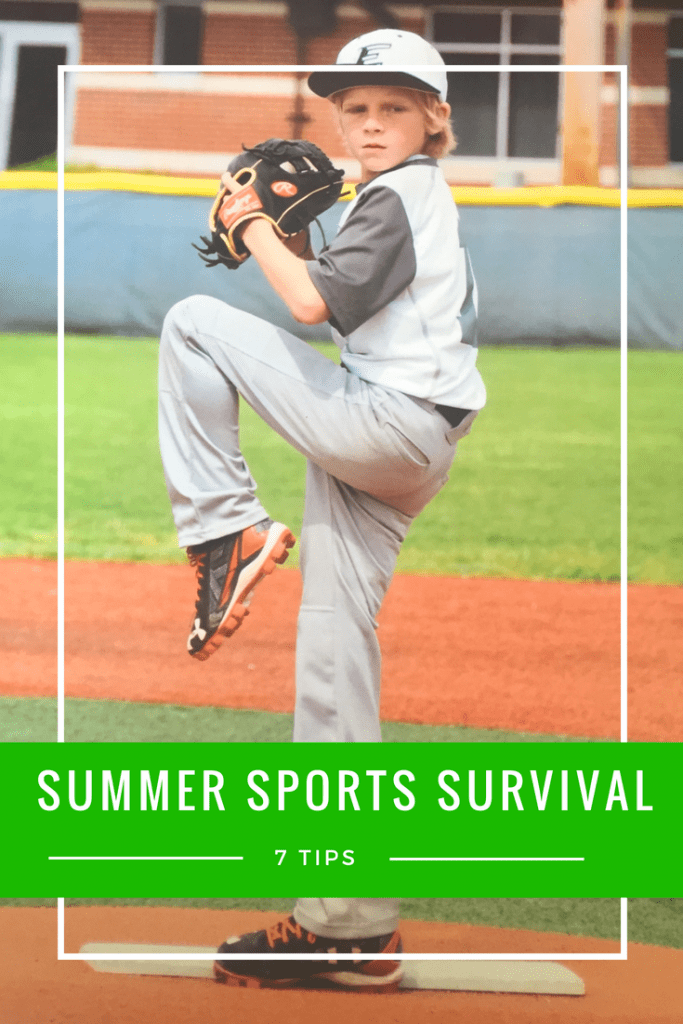 7 Tips for Summer Sports Survival - what you need to have handy as you cheer for your kids.