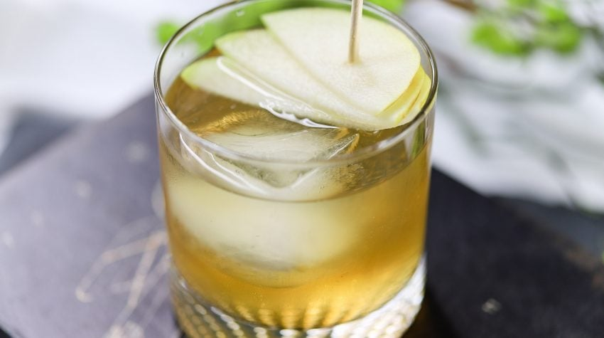 Ready to relax for the weekend or prepping to entertain friends for an evening - We have the perfect Summer Cocktail: Hard Cider Pear Cocktail