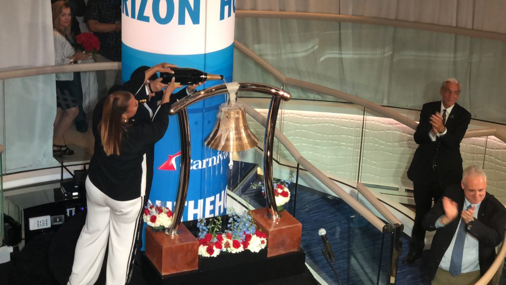Carnival Horizon Naming Ceremony - Champagne