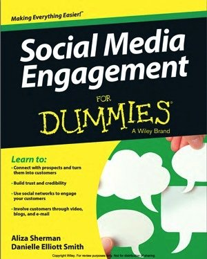 Social Media Engagement for Dummies Cover