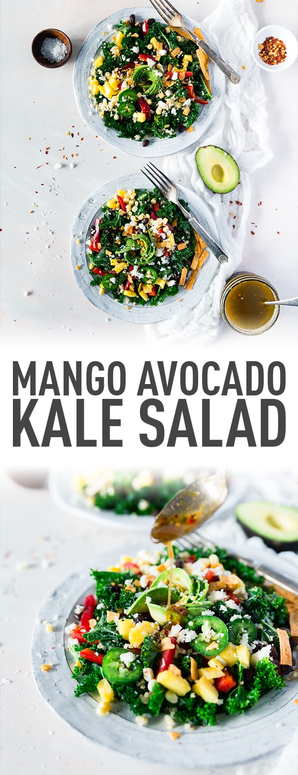 The Perfect Salad: Mango Avocado Kale Salad