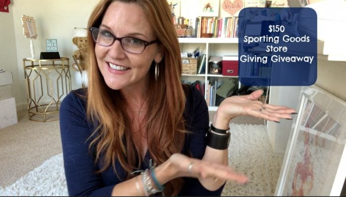Giving Giveaway: $150 Sporting Goods Store Giveaway