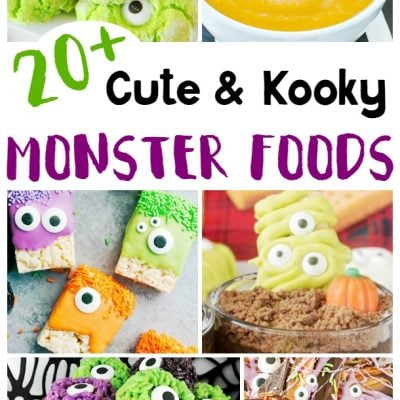 20 Cute and Kooky Monster Foods for Halloween