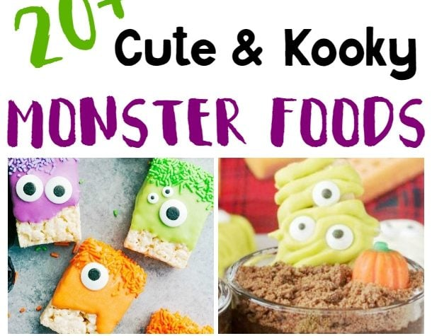 20 Cute and Kooky Monster Foods for Halloween - I love so many of them!