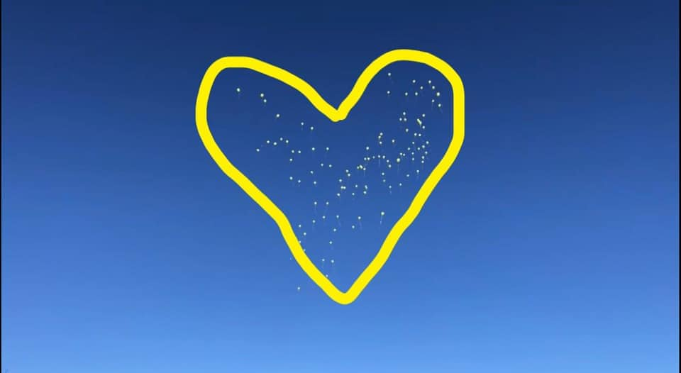 The Color of Heartbreak is Yellow: On the Loss of a Friend - Balloon Release