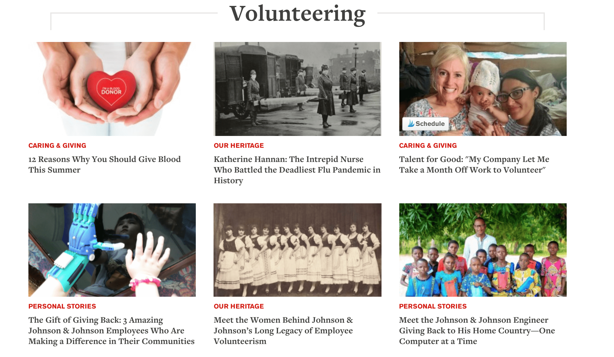 The Heart of a Volunteer: J&J Supports Employee Giving