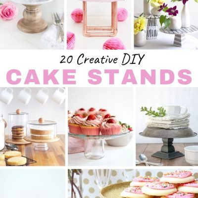 DIY Cake Stands: Perfect for Graduation Parties, Bridal and Baby Showers