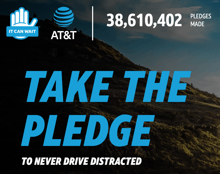 Stop Distracted Driving: It Can Wait - Take the AT&T Pledge